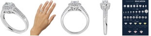 Macy's Diamond Oval Halo Engagement Ring (3/4 ct. t.w.) in 14k White Gold