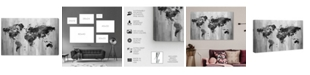 "Oliver Gal Mapamundi Black and White Canvas Art, 45"" x 30"""