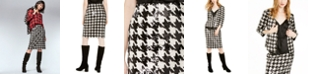 INC International Concepts INC  Sequined Houndstooth Pencil Skirt, Created For Macy's