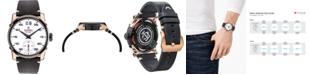 CT Scuderia Men's Swiss Testa Piatta Black Leather Strap Watch 42mm