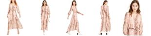 Bar III Snake-Print Wrap Maxi Dress, Created for Macy's