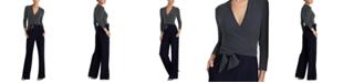 Lauren Ralph Lauren Petite Belted Color-Blocked Jumpsuit