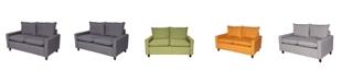 Us Pride Furniture Samuel Modern Loveseat