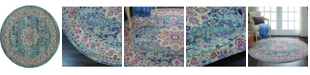 Long Street Looms Era Tabriz ERA01 Blue 4' Round Area Rug