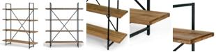 "Glamour Home Ailis 75"" Pine Wood Metal Frame Etagere Bookcase Four-Shelf Media Center"