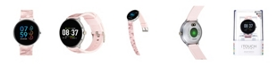 iTouch Women's Sport Silver-Tone Case with Pink Camo Strap 43mm
