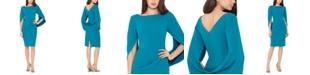 Betsy & Adam Cape-Back Dress