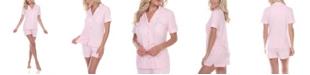 White Mark Short Sleeve Pajama Set