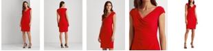 Lauren Ralph Lauren Pleated Jersey Dress