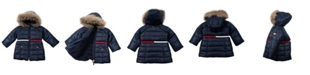 Tommy Hilfiger Baby Girls Longline Puffer with Sequin Patch