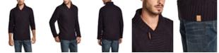 Weatherproof Vintage Men's Fisherman Shawl Toggle Sweater