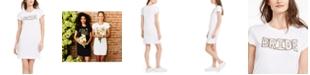 Adrianna Papell Bride Little White T-Shirt Dress