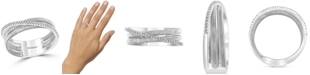 EFFY Collection EFFY® Diamond Crossover Statement Ring (1/10 ct. t.w.) in Sterling Silver