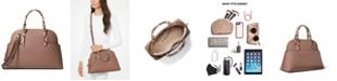 Michael Kors Hudson Large Leather Dome Satchel