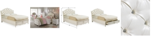 Furniture Celestial Kid's Upholstered Full Bed with Storage Drawer