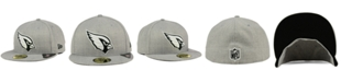 New Era Arizona Cardinals Heather Black White 59FIFTY Fitted Cap
