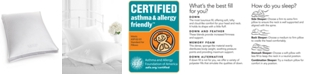 Lauren Ralph Lauren CLOSEOUT! White Down Firm Density Standard Gusset Pillow, Certified Asthma and Allergy Friendly™