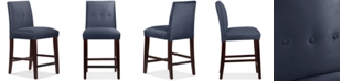 Skyline Mirrell Tapered Counter Stool with Buttons, Quick Ship