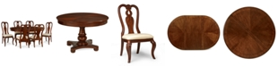 Furniture Closeout! Bordeaux Round Dining Furniture, 7-Piece Set (Round Dining Pedestal Table & 6 Queen Anne Side Chairs)