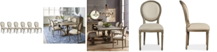 Furniture Tristan Dining Chair Set (6 Side Chairs), Created for Macy's