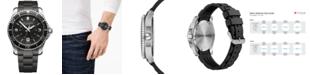 Victorinox Swiss Army Men's Maverick Black Rubber Strap Watch 43mm
