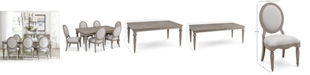 Furniture Elina Expandable Dining Furniture, 7-Pc. Set (Dining Table & 6 Upholstered Side Chairs), Created for Macy's
