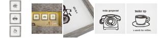 JLA Home Intelligent Design Morning News 3-Pc. Framed Gel-Coated Wall Art Set