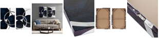 JLA Home INK+IVY Celestial Orbit Navy 2-Pc. Gel-Coated & Silver-Tone Foil Canvas Print Set