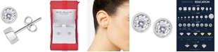 Macy's Diamond Bezel Stud Earrings (1/4 ct. t.w.) in 14k Gold (Also available in 14k Rose Gold and 14k White Gold)