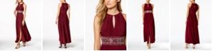 R & M Richards R&M Richards Beaded Gown, Regular & Petite Sizes