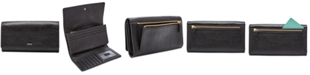 Fossil Logan Leather Flap Clutch Wallet