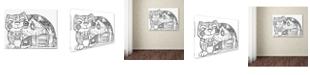 """Trademark Global Oxana Ziaka 'Alpes Cat 2' Canvas Art - 19"""" x 14"""" x 2"""""""