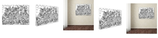 "Trademark Global Oxana Ziaka 'Candy Cats 2' Canvas Art - 19"" x 14"" x 2"""