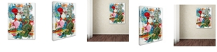 "Trademark Global Oxana Ziaka 'Folk Dragon' Canvas Art - 19"" x 14"" x 2"""