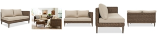 Furniture La Palma Outdoor Left-Armed Loveseat Sectional, Created For Macy's