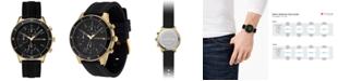 Lacoste Men's Chronograph Key West Black Rubber Strap Watch 44mm