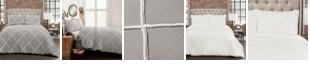 Lush Decor Diamond Pom Pom 3-Piece Full/Queen Comforter Set
