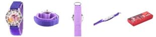 ewatchfactory Disney The Incredibles 2 Violet Parr Girls' Clear Plastic Time Teacher Watch