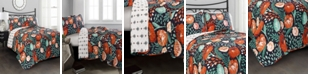 Lush Decor Poppy Garden 3-Pc Set King Quilt Set