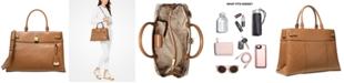 Michael Kors Gramercy Chain Embossed Leather Satchel