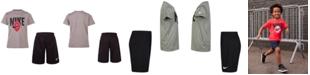 Nike Little Boys 2-Pc. Logo Graphic T-Shirt & Shorts Set