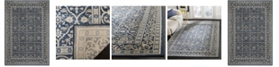 """Safavieh Brentwood Navy and Light Gray 5'3"""" x 7'6"""" Sisal Weave Area Rug"""
