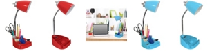 All The Rages Limelight's Gooseneck Organizer Desk Lamp with iPad Tablet Stand Book Holder and Charging Outlet