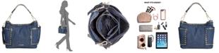 Steve Madden Denim Studded Bucket Bag