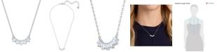 "Swarovski Crystal Row Pendant Necklace, 14-7/8"" + 2"" extender"