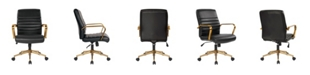 Office Star Mid-back Faux Leather Chair with Arms and Base