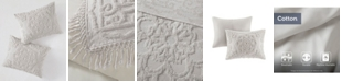 Madison Park Laetitia King/California King 3 Piece Cotton Chenille Medallion Fringe Coverlet Set