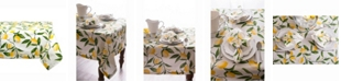 "Design Imports Lemon Bliss Print Table cloth 52"" X 52"""