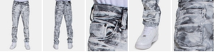 Sean John Men's Retna Straight-Fit Stretch Paint-Print Jeans