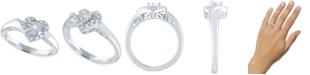 Macy's Diamond Heart Promise Ring (1/10 ct. t.w.) in Sterling Silver